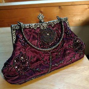 Vintage beaded victorian purse